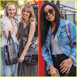 Candice King & Kayla Ewell Have Some Girl Time at lululemon's RCVR Fitness & Wellness Event