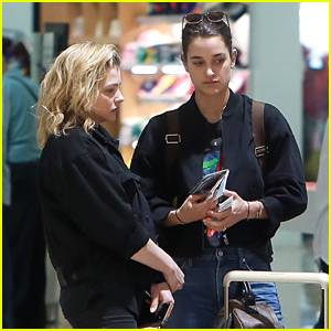 Chloe Moretz & Kate Harrison Fly Out of Mexico Together
