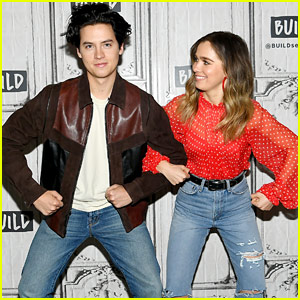 Cole Sprouse & Haley Lu Richardson Get Silly During Their Press Appearance!