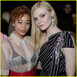 Elle Fanning & Amandla Stenberg Get Chic at  'Miu Miu' Club in Paris!