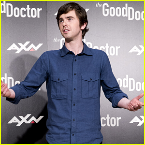 Freddie Highmore Strikes a Pose at 'The Good Doctor' Photocall