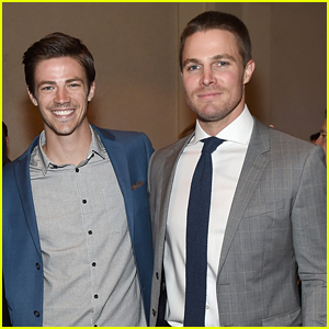 Grant Gustin Reacts to 'Arrow' Ending With Heartfelt Words for Stephen Amell