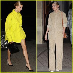 Hailey Bieber Wraps Up First Day at Paris Fashion Week