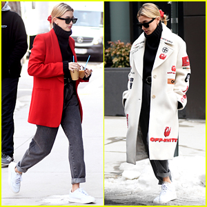 Hailey Bieber Has a Stylish Day Stepping Out in the Big Apple