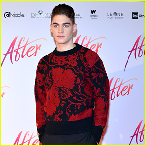 Hero Fiennes-Tiffin Steps Out in Style While Promoting 'After' in Italy