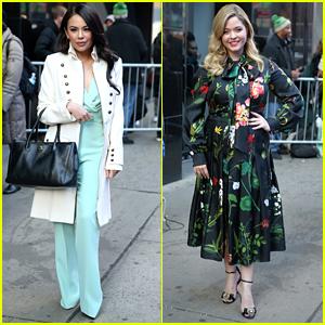 Janel Parrish & Sasha Pieterse Bring 'The Perfectionists' to 'GMA'