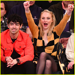Joe Jonas & Sophie Turner Attend New York Knicks Game with Her Parents