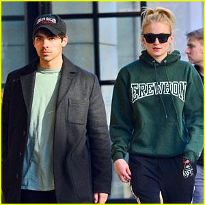 Joe Jonas & Sophie Turner Step Out In Green For Breakfast