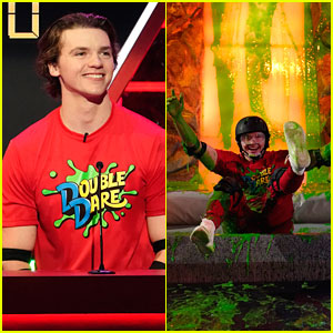 Joel Courtney Gets Covered In Slime On 'Double Dare'!