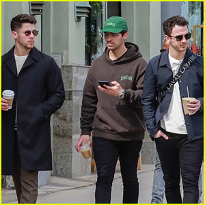 Nick, Joe, & Kevin Jonas Meet Up for Lunch in L.A.