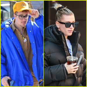 Justin & Hailey Bieber Step Out for the Day in New York City