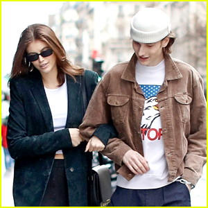 Kaia Gerber Checks Out the Paris Sights with Her Boyfriend