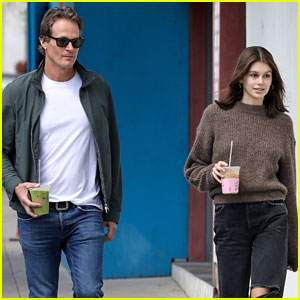 Kaia Gerber Goes Out for Matcha Date with Dad Rande