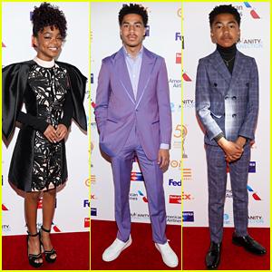 Black-ish's Marsai Martin & Marcus Scribner Win Big at NAACP Awards Dinner!