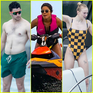Nick Jonas Goes Shirtless Alongside His Family in Miami!