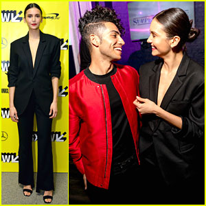 Nina Dobrev & Mena Massoud Share Cute Moment at 'Run This Town' SXSW After Party