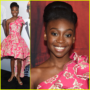 Shahadi Wright Joseph Wows In Pink Dress at 'US' Premiere in NYC