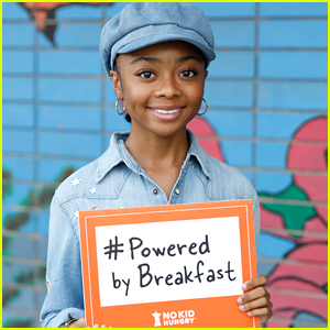 Skai Jackson Grabs Breakfast With School Kids For No Kid Hungry's Breakfast Event