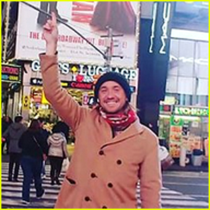 Tom Felton Shows Love for 'Harry Potter' in Times Square