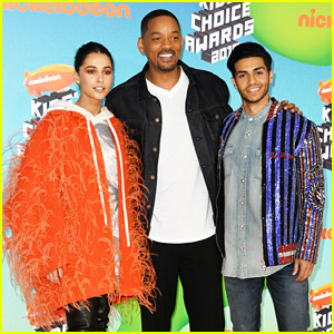 Aladdin's Mena Massoud & Naomi Scott Attend the KCAs 2019!