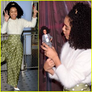 Yara Shahidi Rings in Barbie's 60th Anniversary at the Empire State Building!