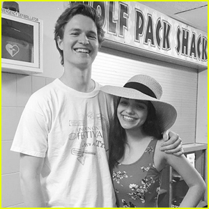 Ansel Elgort Visits Rachel Zegler at Her High School Musical!