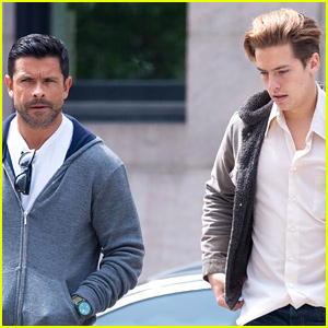 Cole Sprouse Chats With Mark Consuelos While Out in the Big Apple