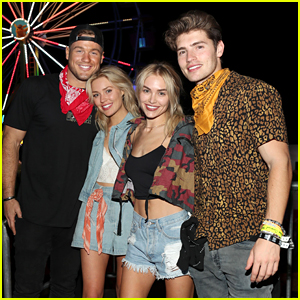 Gregg Sulkin & Michelle Randolph Double Date with Her Sister Cassie & Colton Underwood!