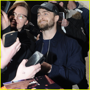 Daniel Radcliffe is Greeted by Fans Outside His Hotel