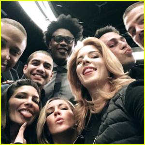 Emily Bett Rickards Celebrates Her Last Day on 'Arrow' Set