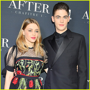 Hero Fiennes-Tiffin & Josephine Langford Keep Close at 'After' Paris Screening