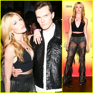 Katherine McNamara Rocks Sheer Pants at Asos + Life Is Beautiful Launch Party with Luke Baines