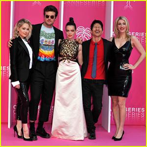Kelli Berglund & 'Now Apocalypse' Cast Walk Pink Carpet in Cannes