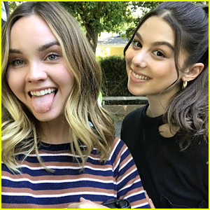 Liana Liberato & Kira Kosarin Share Silly Pics From 'Light as a Feather' Set