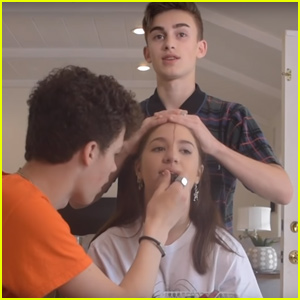 Mackenzie Ziegler Gets Her Makeup Done by Johnny Orlando & Hayden Summerall - Watch!