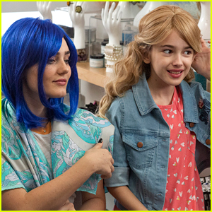 Meg Donnelly Rocks Blue Wig For 'American Housewife'