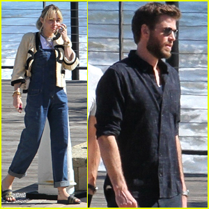 Miley Cyrus Joins Liam Hemsworth & Family Members for Malibu Lunch Date
