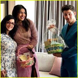 Nick Jonas & Priyanka Chopra Show Off Their Easter Baskets!