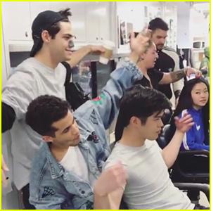 Noah Centineo, Ross Butler, & Jordan Fisher Goof Around in 'TATBILB 2' Dressing Room (Video)
