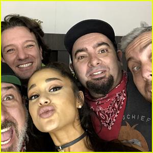 Ariana Grande Snaps Selfie with NSYNC Before Coachella Show