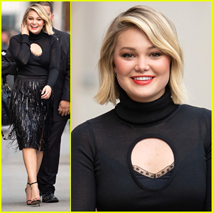 Olivia Holt Makes Fashionable Arrival For 'Jimmy Kimmel Live' Appearance