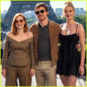 Sophie Turner Joins 'Dark Phoenix' Co-Stars in Paris!