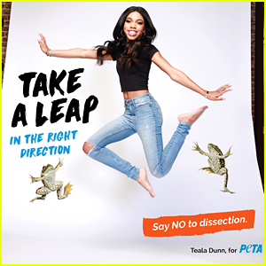 Teala Dunn Jumps High In Peta's New No Dissection Campaign