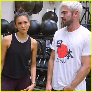 Zac Efron & Nina Dobrev Get Fit Working Out Together - Watch!