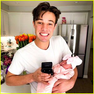 Cameron Dallas Buys Newborn Niece Her First Pair Of Earrings