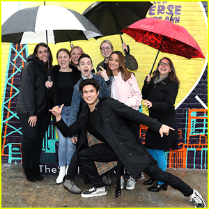 Charles Melton Photobombs Fans During 'Sun Is Also a Star' Mural Unveiling