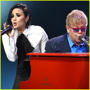 Demi Lovato Shares Emotional Meessage to Elton John After Watching 'Rocketman'