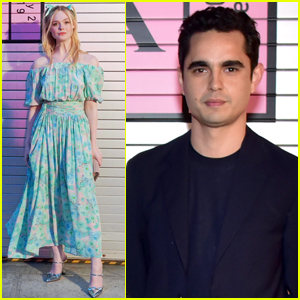 Elle Fanning is Joined by Rumored Boyfriend Max Minghella at Prada Fashion Show!