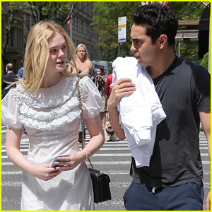 Elle Fanning Hangs Out with Max Minghella in NYC
