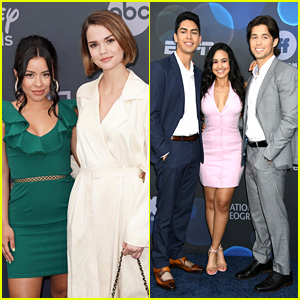 Maia Mitchell & Cierra Ramirez Hit Up Freefrom Upfronts with 'Party of Five' & 'Grown-ish' Casts